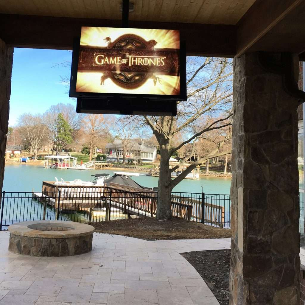 Outdoor televisions on Lake Norman, NC